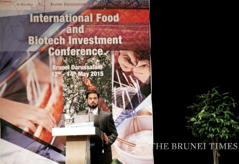 Mustafa Adil, the Head of Research and Product Development for Islamic Finance at Thomas Reuters, speaks at the International Food and Biotech Investment Conference yesterday.