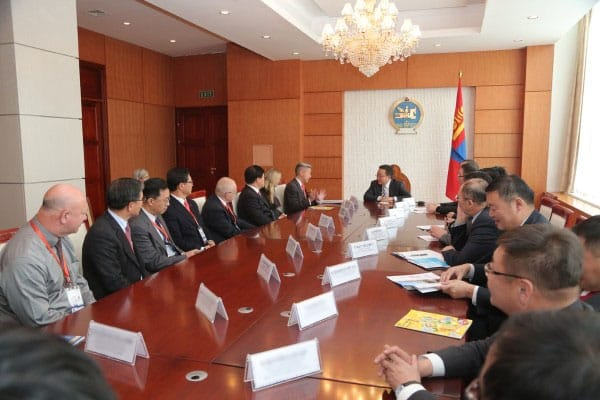 President Ts.Elbegdorj received delegates of the first International Symposium on Technology and Innovation