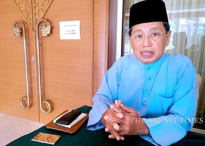 MIPR Minister Yang Berhomat Pehin Orang Kaya Seri Utama Dato Seri Setia Hj Yahya Begawan Mudim Dato Paduka Hj Bakar speaking to The Brunei Times yesterday.